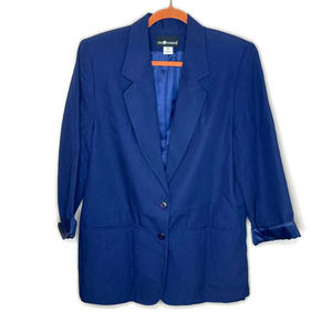 Sag Harbor women's navy blue blazer jacket 12